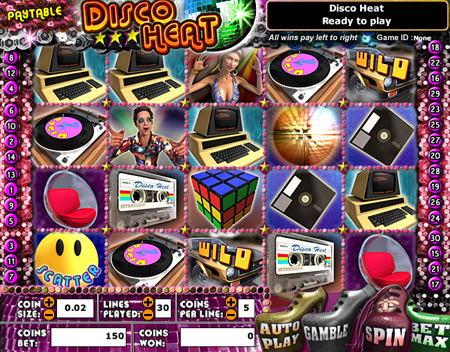 bingo liner disco heat 5 reel online slots game