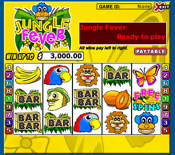 bingo liner jungle fever 5 reel online slots game