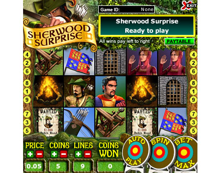 bingo liner sherwood surprise 5 reel online slots game