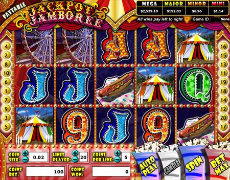 bingo liner jackpot jamboree 5 reel online slots game