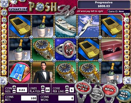 bingo liner posh life 5 reel online slots game