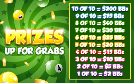 bingo liner promo pot of gold prizes